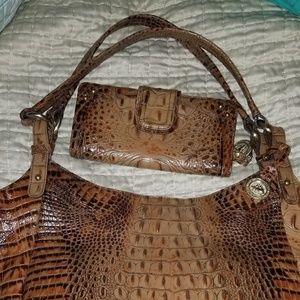 Brahmin purse + Wallet...camel color...Medium size
